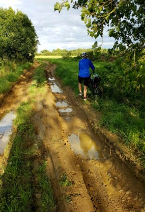 The diversion to our digs for the night got, err, rather muddy
